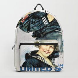 Howard Chandler Christy - Gee I wish I were a Man, I'd Join the Navy - Digital Remastered Edition Backpack