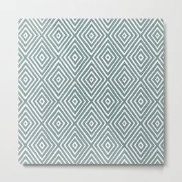 diamond painted-blue Metal Print