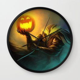 Headless Horseman: All Hallows' Eve Greetings Wall Clock