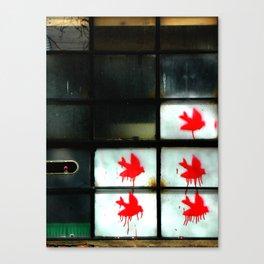 My dear Window pane... Canvas Print