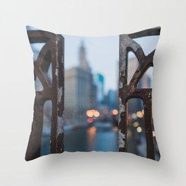 Chicago River Dreams Throw Pillow