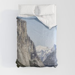 El Capitan, Half Dome and Sentinel Rock from Tunnel View Comforters