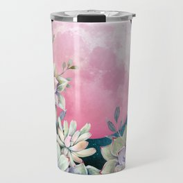 succulent full moon 3 Travel Mug