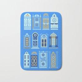 Moroccan Doors – Cornflower Blue Palette Bath Mat