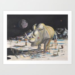 Rhino, Boss Hog aka Grumpy Art Print