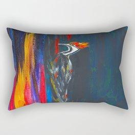 Fire Bird (Pileated Woodpecker) Rectangular Pillow