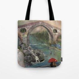 The Roman Bridge, Asturias  Tote Bag