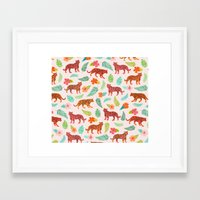 tigers Framed Art Prints featuring Tigers by Abby Galloway
