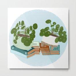 Pilea Peperomioides Houseplants Art Print Metal Print