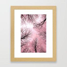 Black Trees Pink Sky Framed Art Print