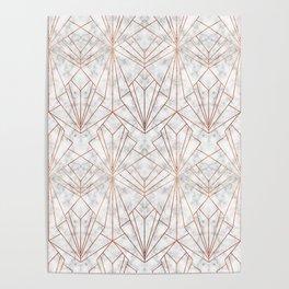 Art Deco Marble & Copper Poster