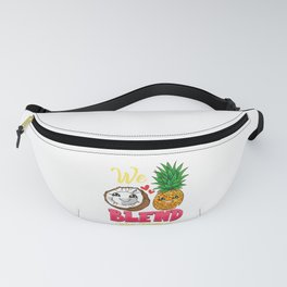 We Blend Well Together Funny Pineapple Coconut Pun Fanny Pack