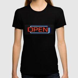 open orange T-shirt