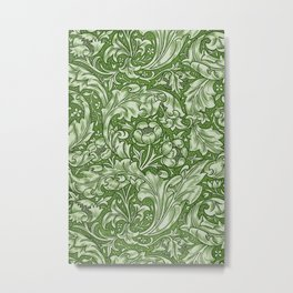 Green Bachelors Button by William Morris Metal Print
