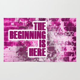 The Beginning is Here Rug