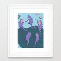matisse Framed Art Prints featuring Matisse Frogs by Liz Dorvee