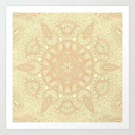 Gloria Tumbleweed Mandala With Corn Field Backdrop Art Print