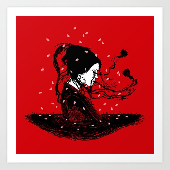 Geiko Poetry Art Print