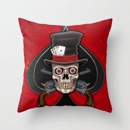 Dead Man's Hand Throw Pillow