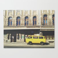 yellow submarine Canvas Prints featuring Yellow submarine by monicamarcov