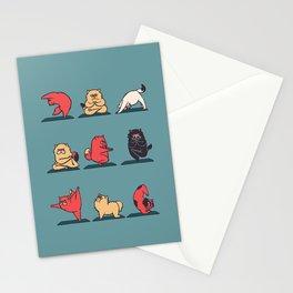 Cat Yoga Stationery Cards