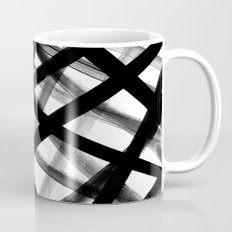 Criss Cross Black and White Coffee Mug