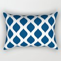 Dark blue and white curved lines pattern by sunshineprints