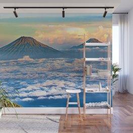Java Volcanic Landscape - Sumbing Mountain Wall Mural