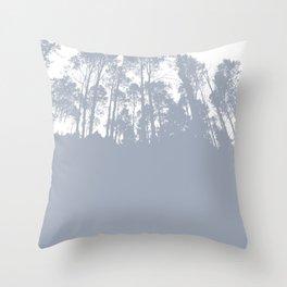 gray treeline Throw Pillow