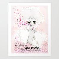 fashion illustration Art Prints featuring FASHION ILLUSTRATION 9 by Justyna Kucharska