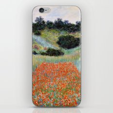 Poppy Field in a Hollow near Giverny by Claude Monet iPhone & iPod Skin