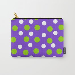 Purple with white and green dots Carry-All Pouch