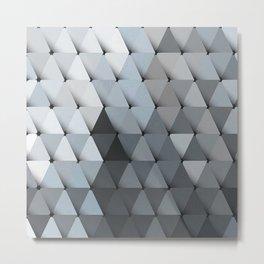 Triangles Slate Blue Gray Metal Print