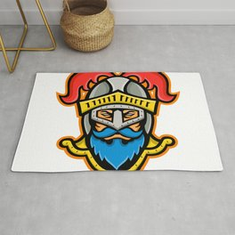 Knight Head Front Mascot Rug