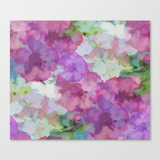Sweet Peas Floral Abstract Canvas Print