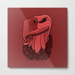 Eagle - Chile Oil Red Metal Print