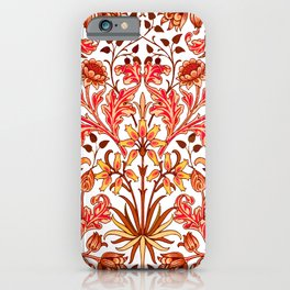 William Morris Hyacinth Print, Orange and Rust iPhone Case