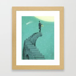 Moon Steps Framed Art Print