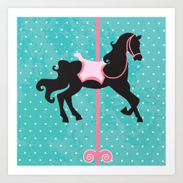 Carousel Horse , amusement park Art Print
