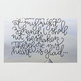 Always Before Me  |  Psalm 16:8-9 Rug