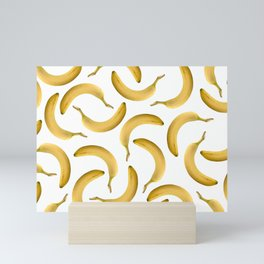 Bananas Pattern - white Mini Art Print