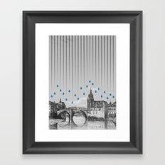 La lluvia en Bilbao es una pura maravilla Framed Art Print