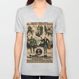 Vintage poster - Once a German Unisex V-Neck