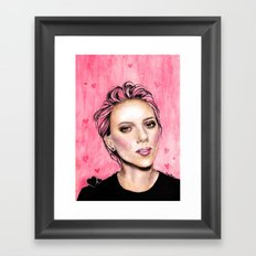 pink hearts Framed Art Print