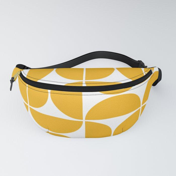 Mid Century Modern Geometric 04 Yellow Fanny Pack