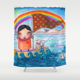 SailAway by Kylie Fowler Shower Curtain