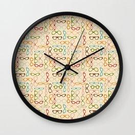 Retro glasses Wall Clock