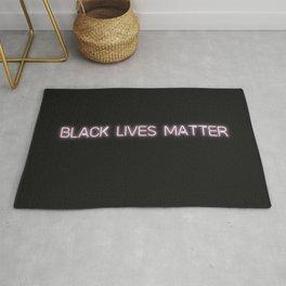 Black Lives Matter Glow Sign Rug