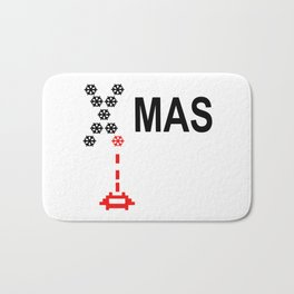 X-Mas Invader Bath Mat