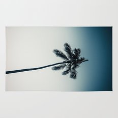 palm tree ver.darkgreen Rug